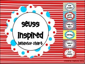Seuss Inspired Behavior Chart