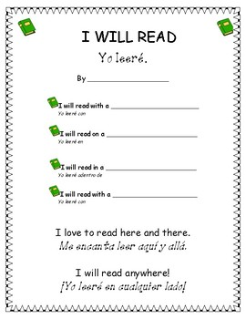 Dr Seuss Themed Bilingual Writing Prompt