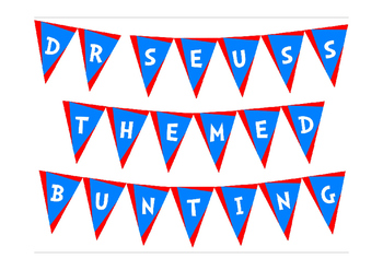 Dr Seuss Themed Bunting