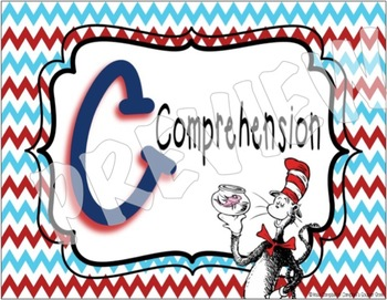Dr Seuss Theme {CAFE Posters and Strategies}