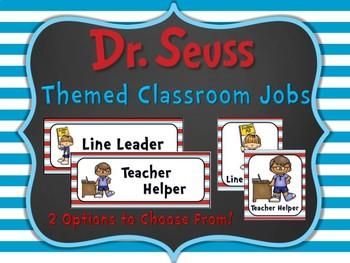 Editable Dr. Seuss Themed Classroom Jobs