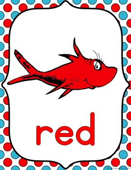 Dr. Seuss-Themed Color Posters & Number Cards