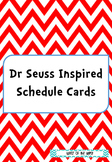 Dr Seuss Inspired Themed Daily Schedule Cards