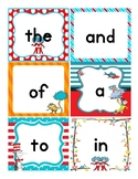 Dr. Seuss Themed Fry Words Flashcards-First 100