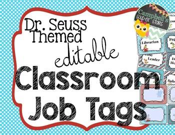 Dr Seuss Theme {Job Tags}