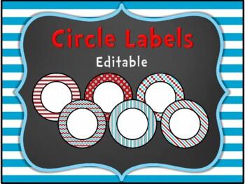 Editable Dr. Seuss Themed Labels