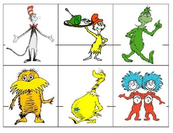 Dr. Seuss Themed Matching Game The Foot Book