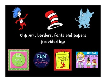 Dr. Seuss Themed Math Scoot Task Cards (Grade 2)