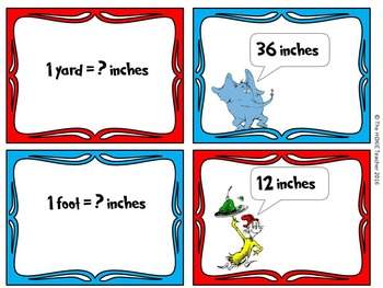 Dr. Seuss Themed Measurement Flash Cards