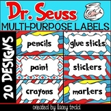 Dr. Seuss-Themed Multi-Purpose Labels (20 DESIGNS)
