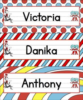 Dr. Seuss-Themed Name Plates (20 DESIGNS!)