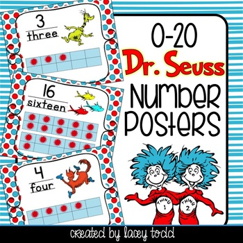 Dr. Seuss-Themed Number Posters & Cards 0-20