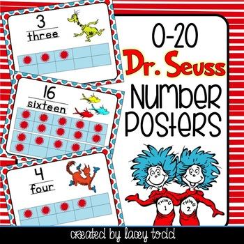Dr. Seuss-Themed Number Posters and Cards