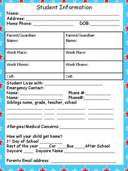 Dr. Seuss Themed Parent Contact Log