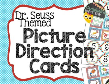 Dr. Seuss Theme {Picture Direction Cards}