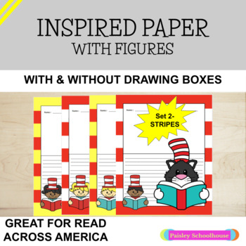 Dr. Seuss - Themed Primary Writing Paper (Stripes)