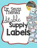 Dr Seuss Theme {School Supply Labels}
