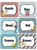 Dr Seuss Theme {School Supply Labels}