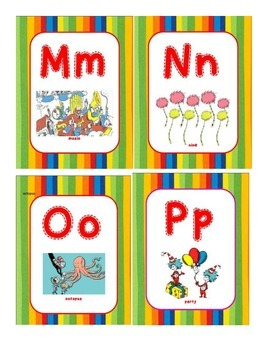 Dr. Seuss Themed Word Wall Cards 2