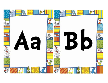 Dr. Seuss Themed Word Wall Letters