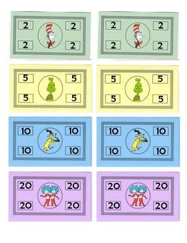 Dr. Seuss Themed money - Cat Cash