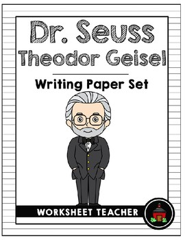 Dr. Seuss Theodor Geisel Writing Paper Set