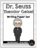 Dr. Seuss Theodor Geisel Writing Paper Set
