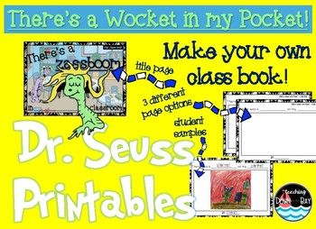 Dr Seuss There's A Wocket in my Pocket! CLASS BOOK!
