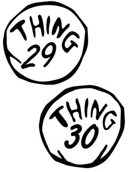 Dr. Seuss Thing 1 and Thing 2 Hair Headband and Badges printables