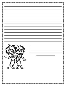Dr. Seuss Thing 1 and Thing 2 Writing Prompt
