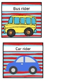 Dr. Seuss Themed Transportation Wall Cards