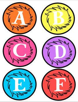 Dr. Seuss Truffula Tree Classroom Library Labels