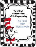 Dr. Seuss Two Digit Subtraction WITH AND WITHOUT REGROUPING