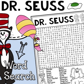 Dr. Seuss Vocabulary Word Search Activity