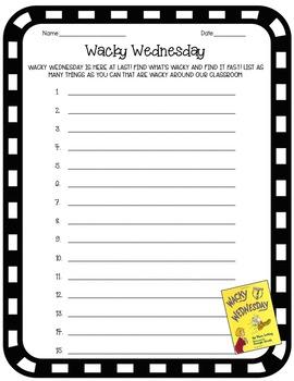 Dr. Seuss Wacky Wednesday