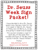 Dr. Seuss Week Daily Fliers! FREEBIE