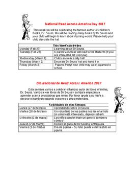 Dr.Seuss Week - English & Spanish
