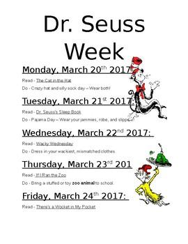 Dr. Seuss Week Flyer