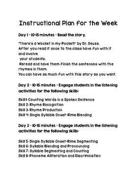 Dr Seuss Week Phonemic Awareness