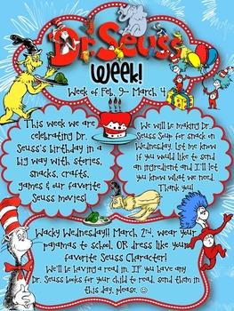 Dr. Seuss Week/Read Across America Editable Newsletter