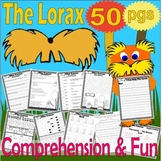 Lorax Reading Comprehension Book Companion Activity Packet Craft Unit 50 pgs