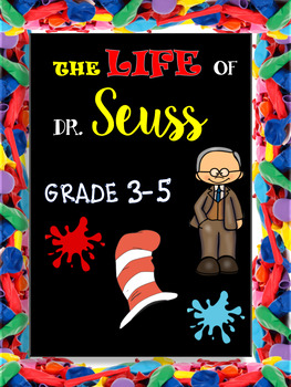 Dr. Seuss  Week and Read Across America - Reading Comprehension  3-5 Grade