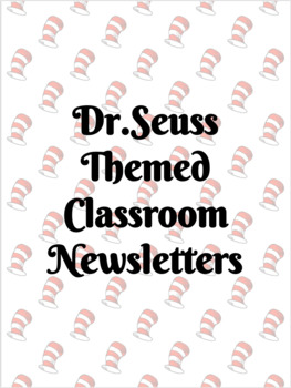 Dr. Seuss Weekly Newsletter {EDITABLE}