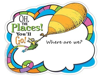 Dr.Seuss Where are we Door Sign