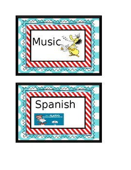 Dr.Seuss Where we are door sign labels