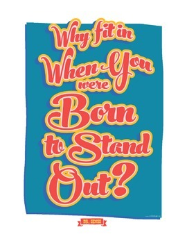 Dr Seuss - Why Fit In When You Were Born To Stand Out - Poster