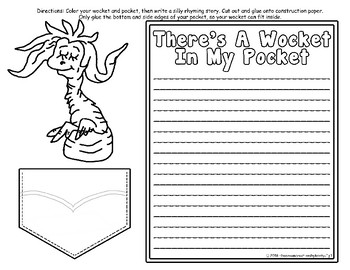 Dr. Seuss Wocket In My Pocket Writing and Craftivity