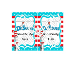 Dr. Seuss Word Family Mini Hat Books