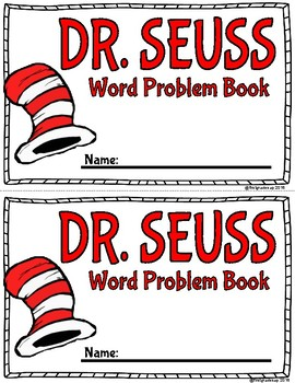 Dr. Seuss Word Problem workbook!
