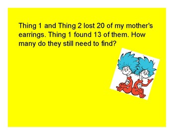Dr. Seuss Word Problems